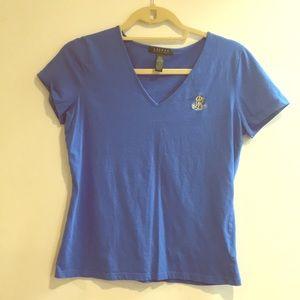 Ralph Lauren blue & gold t shirt